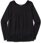 Ralph Lauren Girls' Pleated Jersey Top - Sizes S-XL