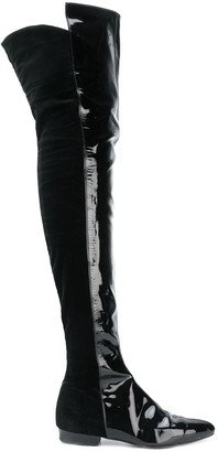 Versace Pre Owned over the knee boots