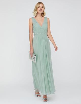 Under Armour Elyse Embellished Waist Maxi Dress Green