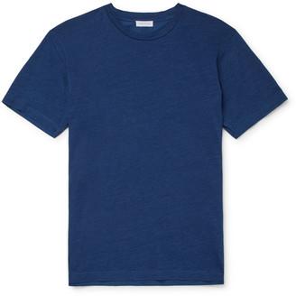 Sunspel Indigo-Dyed Organic Cotton-Jersey T-Shirt