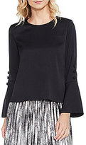 Vince Camuto Flutter Cuff Trumpet Sleeve Blouse