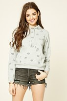 Forever 21 Speech Bubble Print Hoodie