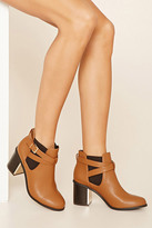 Forever 21 FOREVER 21+ Faux Leather Chelsea Boot