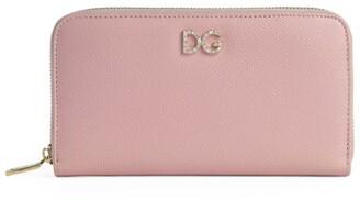 Dolce & Gabbana Logo Embossed Zip Wallet