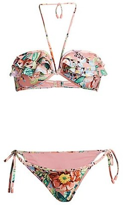 Zimmermann Bellitude 2-Piece Floral Frill Bikini Set