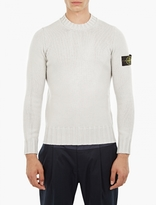Stone Island Grey Chunky-knit Wool Sweater