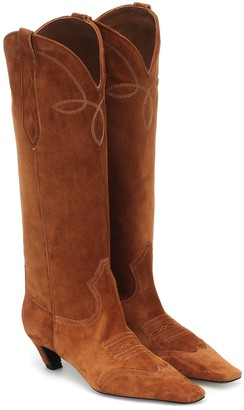 KHAITE Dallas suede Western boots