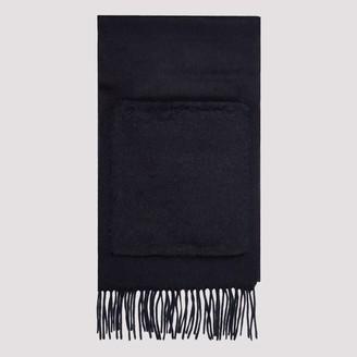 Max Mara Pocket-Detailed Fringed Knit Scarf