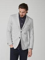 Frank + Oak Cropped StretchKnit Suit Jacket in Grey Heather