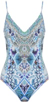 Camilla The Blue Market-print scoop-back swimsuit