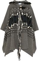 Chloé Wool and cashmere-blend jacquard cape