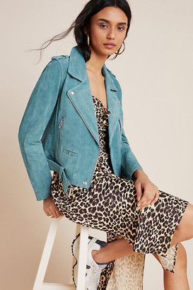 Blank NYC Annika Suede Moto Jacket By in Pink Size XS