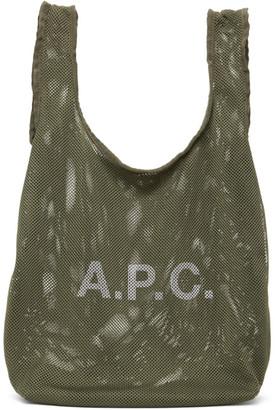 A.P.C. Khaki Rebound Shopping Tote