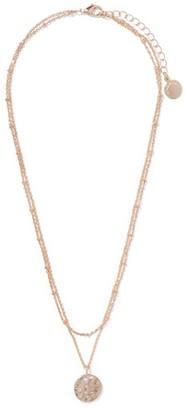 Ever New Daphne Diamante Disc Layered Necklace