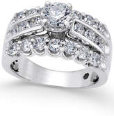 Macy's Diamond Three-Row Engagement Ring (2 ct. t.w.) in 14k White Gold