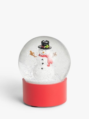 John Lewis & Partners Pop Art Small Snowman Snow Globe