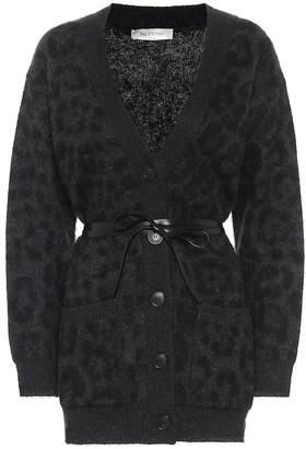 Valentino leopard-jacquard cardigan