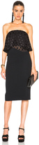 Cushnie et Ochs Selena Stretch Cady Satin Dot Strapless Dress