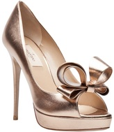 Valentino Garavani Metallic couture bow pump