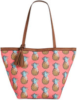 Style&Co. Style & Co. Printed Canvas Tote, Only at Macy's