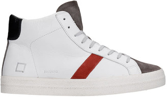 D.A.T.E Hill High Sneakers In White Leather
