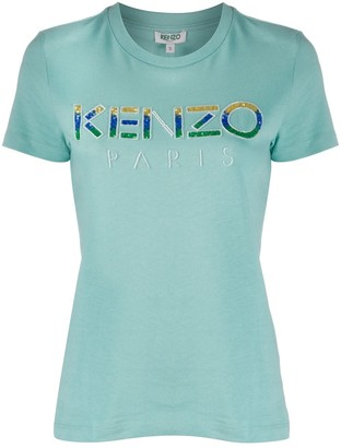 Kenzo sequin logo T-shirt