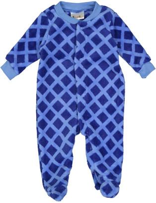 Sweet & Soft Boys' Footies - Blue Diamond Fleece Footie - Newborn & Infant