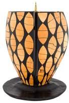 R & Y Augousti R&Y Augousti Wood Inlaid Candlestick