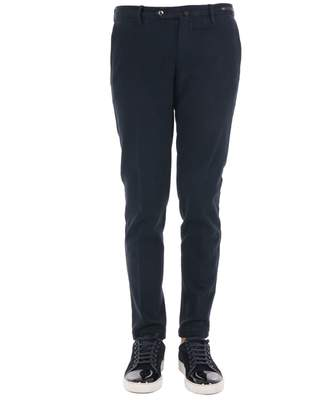 Pt01 Cotton And Cashmere Blend Skinny Fit Trousers