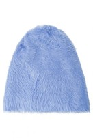 Select Fashion Fashion Womens Blue Light Eyelash Beanie - size One