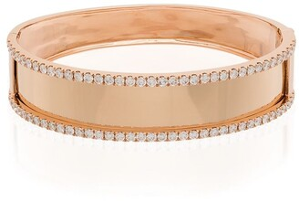 Shay 18kt Rose Gold Nameplate Diamond Bracelet