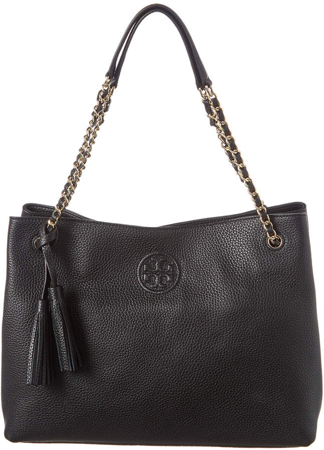 1bfb170bb139 Bombe Leather Top Handle Tote