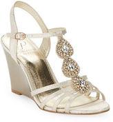 Adrianna Papell Kristen Rhinestone Wedge Sandals