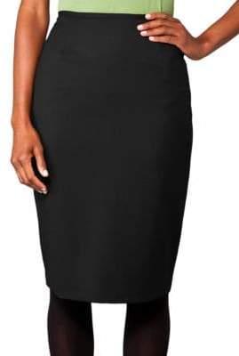 Lafayette 148 New York Stretch Wool Slim Skirt