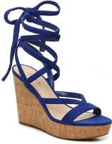 GUESS Women's Treacy Wedge Sandal -Cobalt