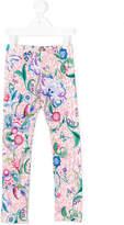 Roberto Cavalli Ocelot floral leggings