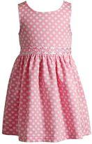 Youngland Toddler Girl Textured Polka-Dot Daisy Dress
