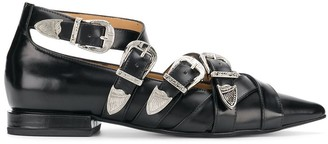 Toga Pulla Buckled Pointed Loafers