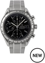 Rolex Omega Pre-Owned Gents Steel Speedmaster Reduced Date Watch, Black Dial. Ref: 3513.13