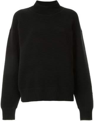 Nagnata merino wool blend rib-knit turtleneck jumper