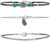 Accessorize 3x Ethnic Choker Necklace Pack