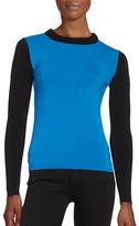 DKNY Crewneck Wool Blend Long Sleeve Sweater