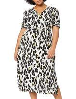 Lost Ink Plus LOST INK PLUS Women's Animal Print Midaxi Dress Multicolour (Multi 0088) 18 (Size:18/1XL)