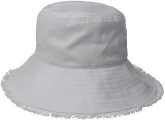 Physician Endorsed Women's Castaway Canvas Bucket Sun Hat with Fringe Rated UPF 50+ for Max Sun Protection