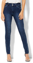 New York & Co. Soho Jeans - Jennifer Hudson Seamed High-Waist Legging - Stiletto Blue