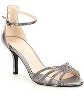 Pelle Moda Rhinestone-Embellished Leather Isabel Sandals