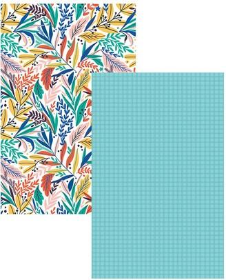 Ambrosia Floral 2 Piece Cotton Tea Towel Set 50 x 70cm