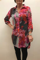 Multiples Print Duster Blouse