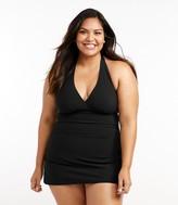L.L. Bean L.L.Bean Women's Slimming Swimwear, Clasp Halter Dress