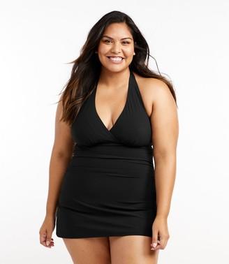 L.L. Bean Women's Slimming Swimwear, Clasp Halter Dress